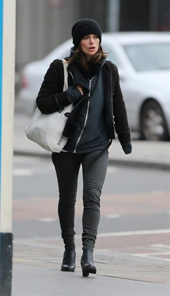 Keira Knightley out and about in London 2/6/13