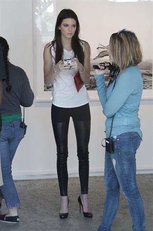 Kendall Jenner at the latest Nomad Two Worlds exhibit at the Guy Hepner gallery in Los Angeles on April 11, 2013