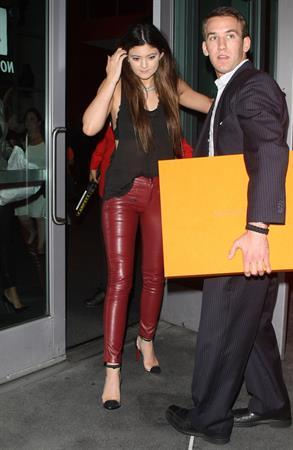 Kylie Jenner leaving Justin Bieber concert in Hollywood 10/2/12