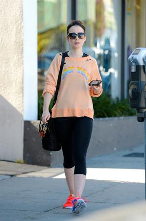 Lily Collins in Los Angeles 11/1/13
