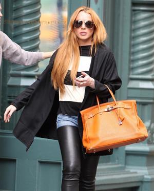 Lindsay Lohan in Manhattan on September 25, 2013