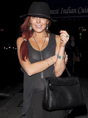 Lindsay Lohan Leaving the Tasting Kitchen in Studio City (10/14/12)