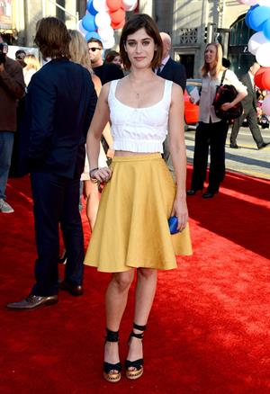 Lizzy Caplan - The Campaign - Los Angeles Premiere, Aug 3, 2012