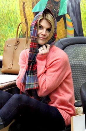 Lori Loughlin at a salon in Beverly Hills 1/28/13