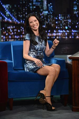 "Lucy Liu – ""Late night with Jimmy Fallon"" 11/5/13"