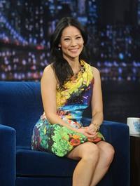 Lucy Liu Late Night with Jimmy Fallon in NYC 1/29/13