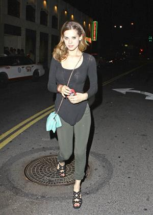 Lyndsy Fonseca - Leaving the Sayers Club in Hollywood, May 29, 2012