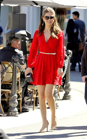 Maria Menounos out and about at The Grove in LA 2/25/13