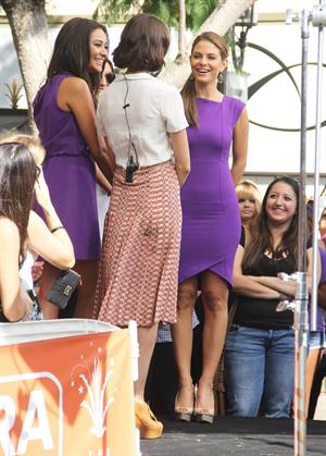Maria Menounos on the set of Extra at The Grove in LA 10/19/12