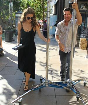 Maria Menounos  At LA Piazza at the Grove in LA 24.09.12