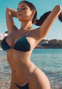 Demi Rose Mawby in a bikini