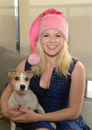 Megan Hilty Ready For Christmas Photoshoot in New York December 21, 2012
