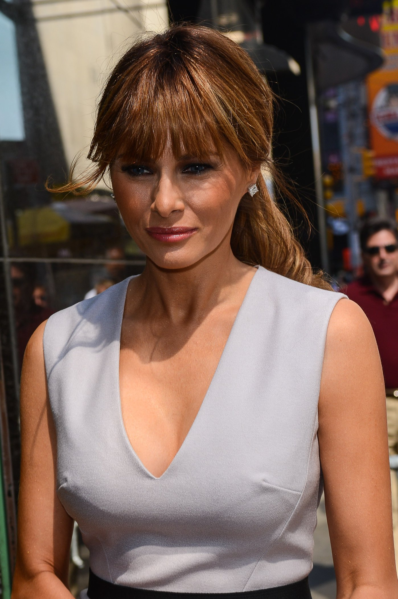 Melania Trump Pictures. Melania Trump Heads to Good Afternoon America ...