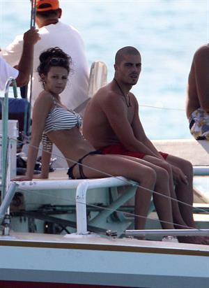 Michelle Keegan bikini candids Barbados January 1, 2011