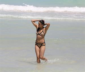 Michelle Rodriguez enjoying the sun at Miami Beach April 26-2013