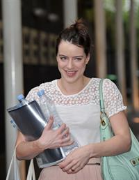 Michelle Ryan - Arriving at ITV Studios - August 21, 2012