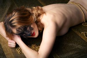 Amely in  Gold  for The Life Erotic