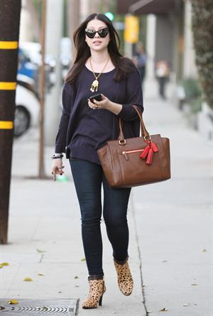 Michelle Trachtenberg Leaving Salon Benjamin in West Hollywood - November 6, 2012