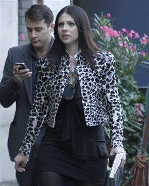 Michelle Trachtenberg  Gossip Girl set in New York - October 1, 2012