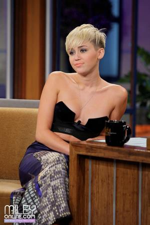 Miley Cyrus on The Tonight Show with Jay Leno 10/12/12