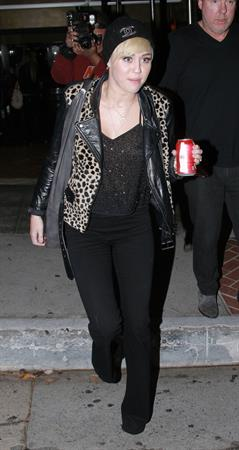 Miley Cyrus leaves recording studio in West Hollywood 10/10/12