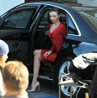 Miranda Kerr on the set of a Qantas Airways photoshoot in Beverly Hills 1/10/13