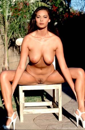 Tera Patrick posing nude in the sun