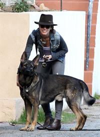 Nikki Reed Takes her dog out for a walk in Sherman Oaks, California (November 19, 2012)