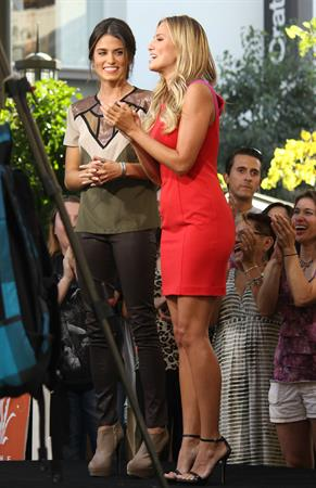 Nikki Reed appears on the set of ''Extra'' at The Grove in LA October 2, 2012