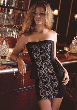 Nina Agdal BEBE: Holiday ads (November 2013)