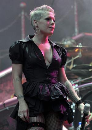 Alecia Moore (Pink) RheinEnergieStadion in Cologne on May 29, 2010