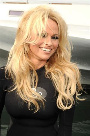 Pamela Anderson Launches Sea Shepherds Operation Zero Tolerance Whale Defense Campaign on November 2, 2012