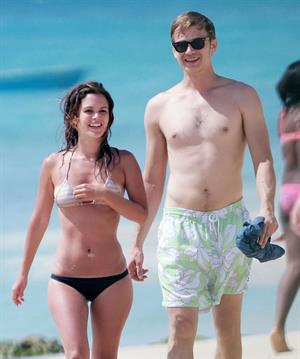 Rachel Bilson on the beach in Barbados 4/16/13