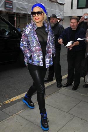 Rita Ora at BBC Radio 2 in West London 11/19/12