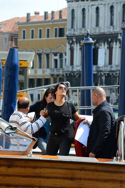 Salma Hayek Visiting the Biennale in Venice May 30, 2013