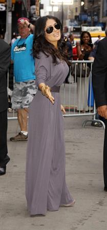 Salma Hayek - At the Good Morning America show in New York City (11.07.2013)