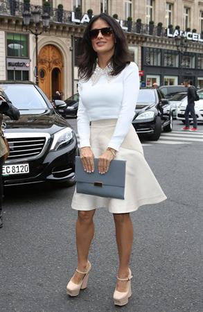 Salma Hayek at the Stella McCartney fashion show at Paris Fashion Week - Sep. 30, 2013
