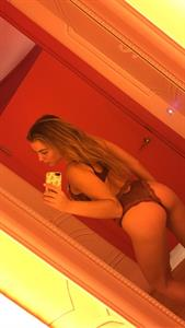 Blair Williams in lingerie taking a selfie and - ass