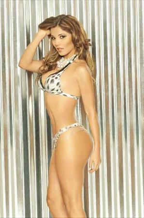 Aleida Nunez in a bikini