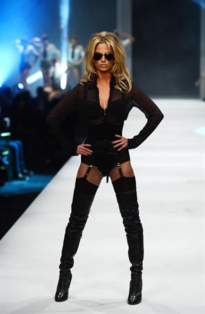 Sarah Harding Lingerie London fashion show - October 24, 2012