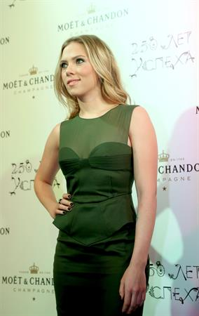 Scarlett Johansson Gala in Moscow celebrating 250 years of Moët & Chandon - 10/4/12