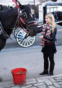 Stefanie Scott on holiday in NY 12/28/12