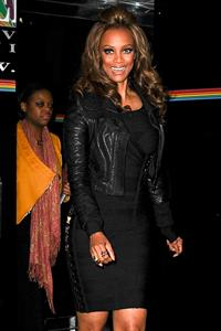 Tyra Banks Heads to  The Wendy Williams Show  studios in New York (November 15, 2012)