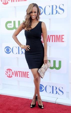 Tyra Banks arrives at the 2012 TCA Summer Tour - CBS, Showtime And The CW Party at 9900 Wilshire Blvd on July 29, 2012 in Beverly Hills, California
