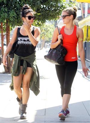 Vanessa Hudgens heading to a gym in LA October 3, 2012