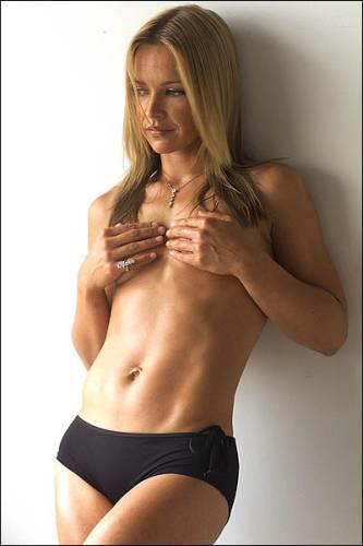 Carla Bonner in lingerie