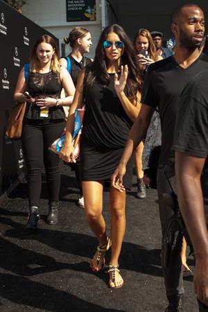 Adriana Lima @ New York Fashion Week September 4, 2014