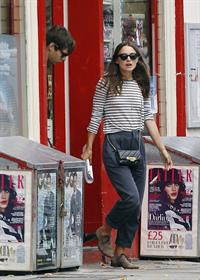 Keira Knightly & husband James Righton out shopping in North London September 3, 2014