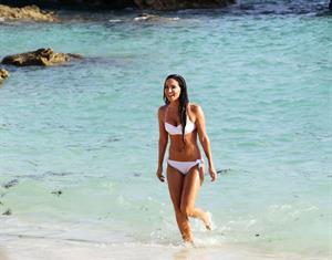 Tulisa Contostavlos in a bikini on the beach in Bermuda August 21, 2014