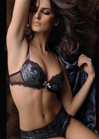 Catrinel Menghia in lingerie